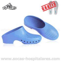 Socas Calzuro Azul Celeste