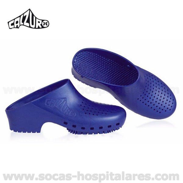 Socas Hospitalares Calzuro Azul Metalico